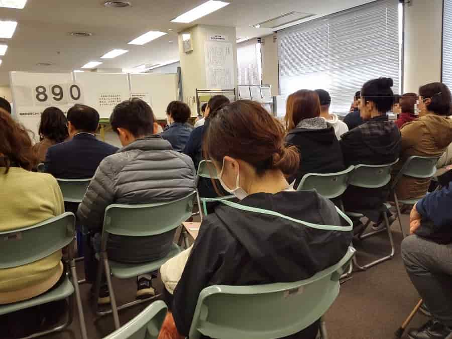 川越税務署の待ち時間