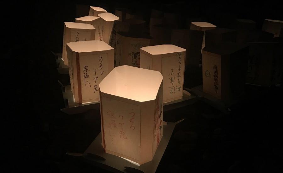 坂戸竹灯の夕べの灯ろう
