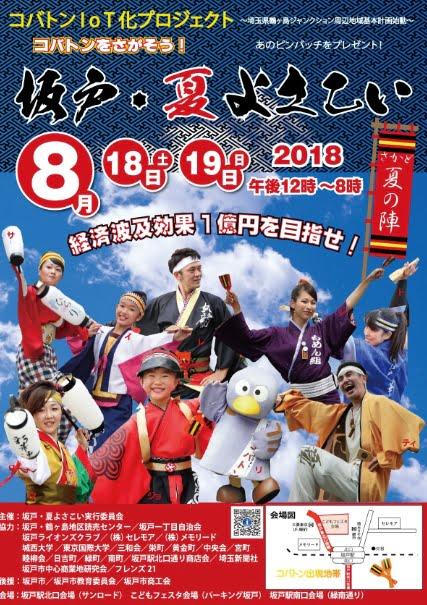 坂戸夏よさこい2018年のポスター