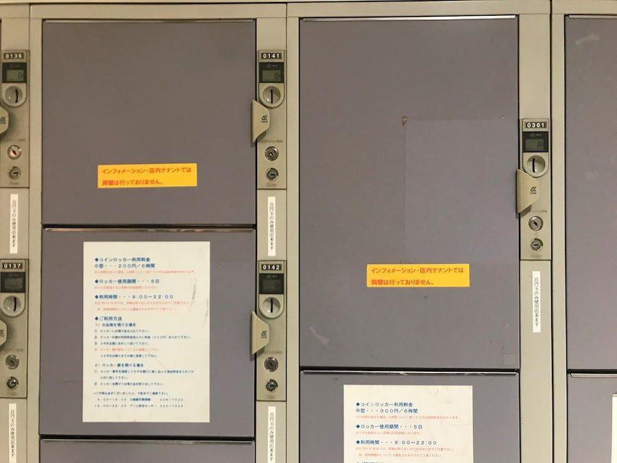 アトレ川越1階エスカレーター横のコインロッカー(小)(中)