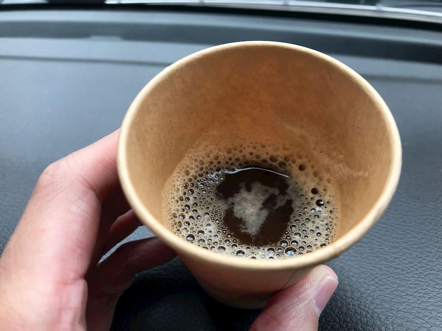 ハンドメイドベーカリー ニコリのコーヒー