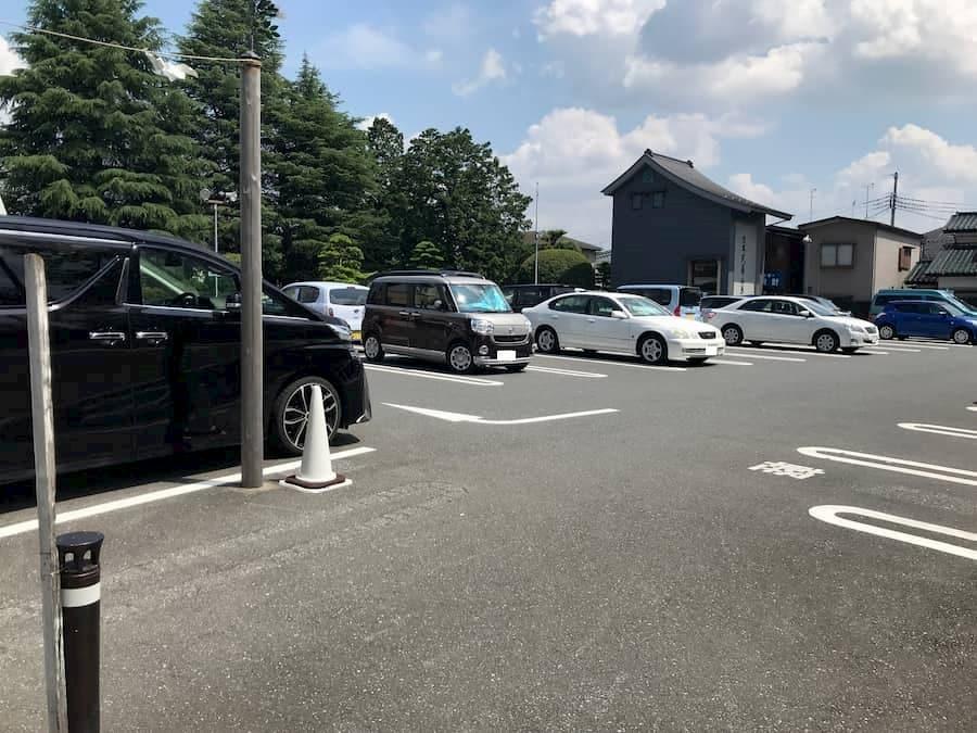 川越氷川神社第1駐車場の中