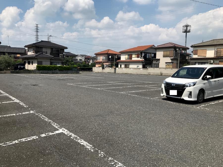 川越氷川神社第2駐車場の中