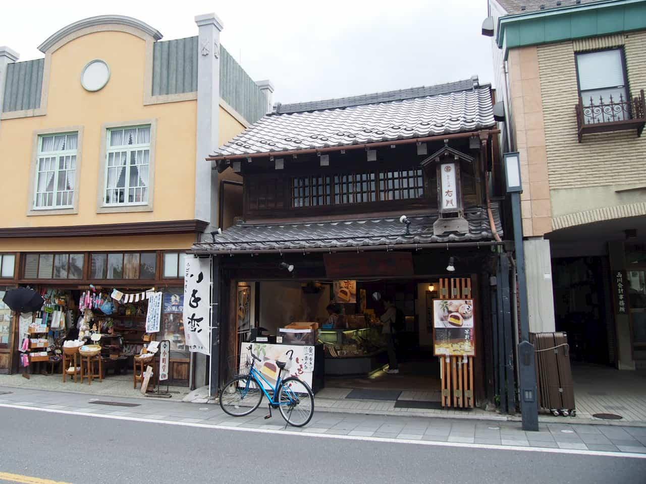 川越一番街にある菓匠右門一番街店