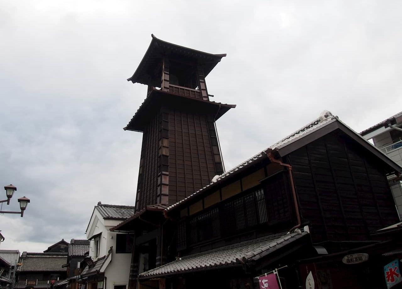 川越一番街にある時の鐘
