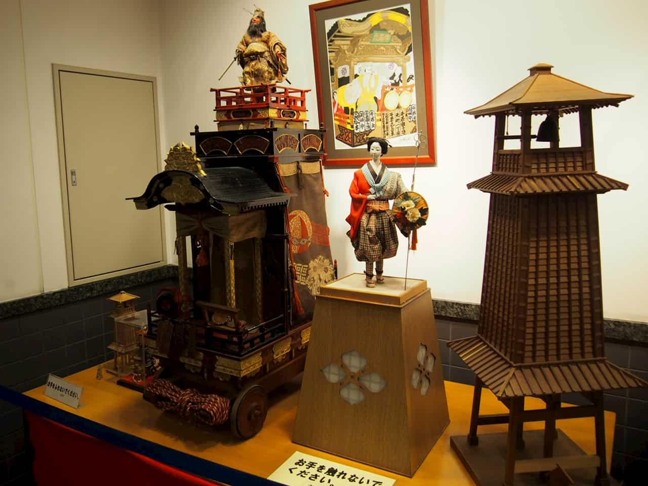 川越まつり会館の展示物