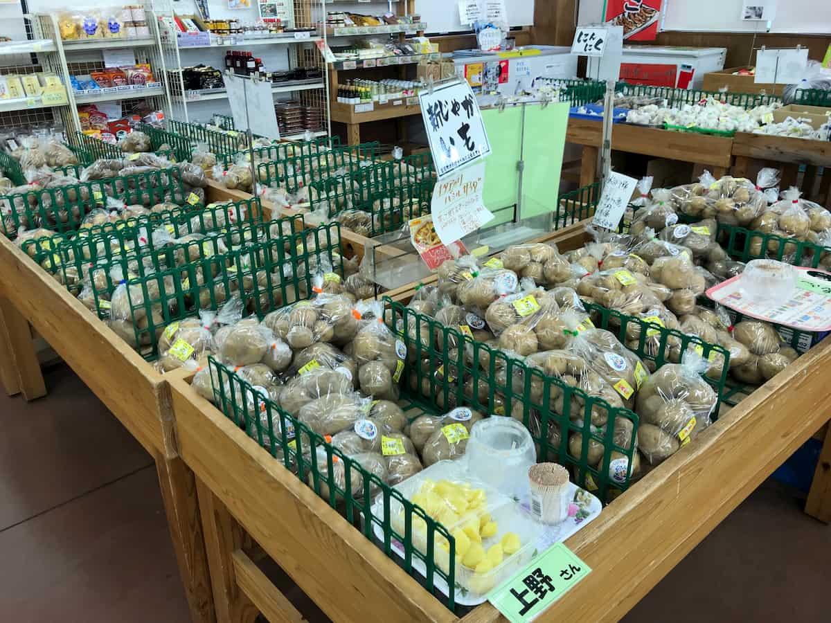 売り場のジャガイモ