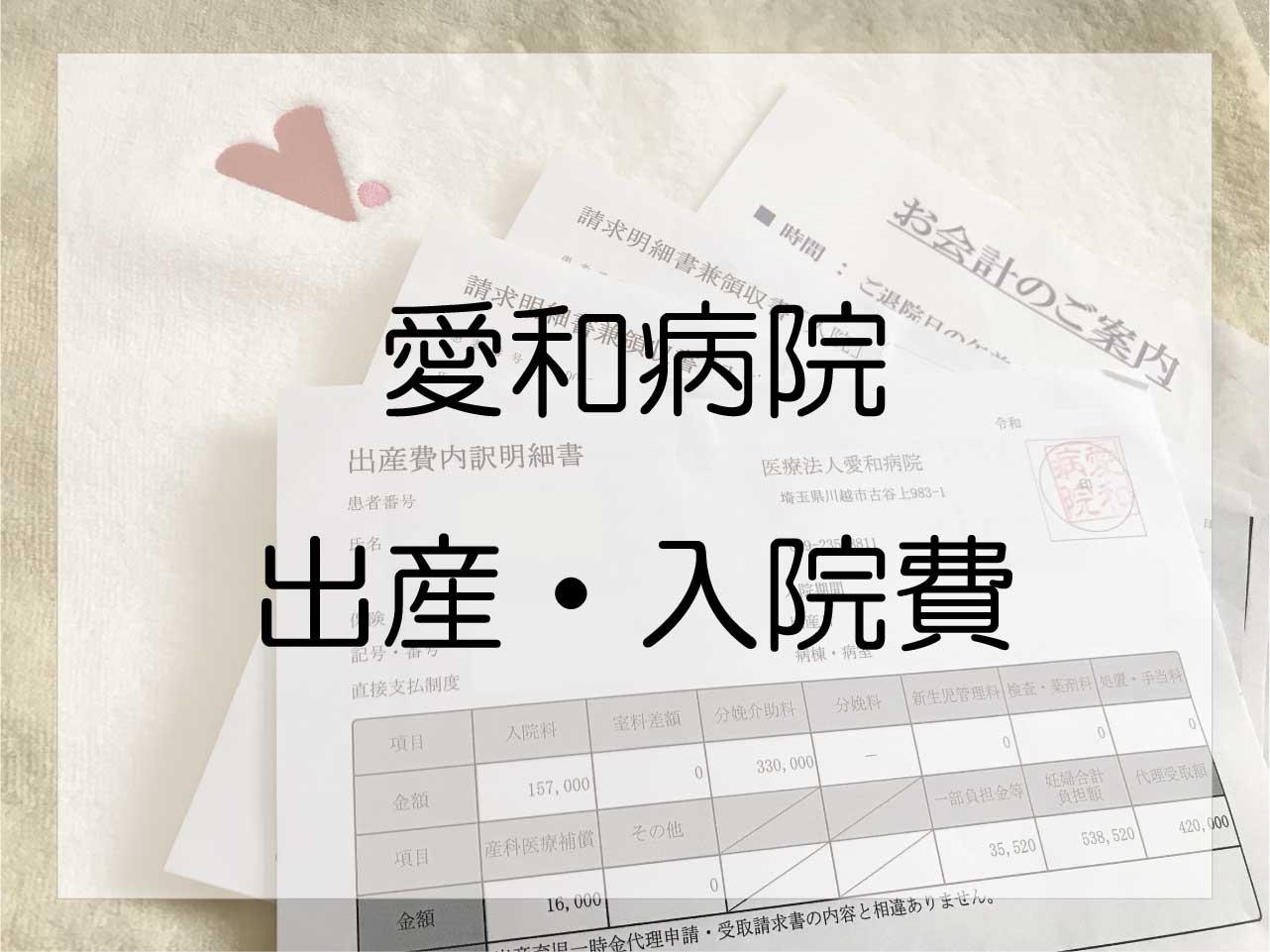 川越市「愛和病院」の出産費用と個室入院費は総額いくらだった?