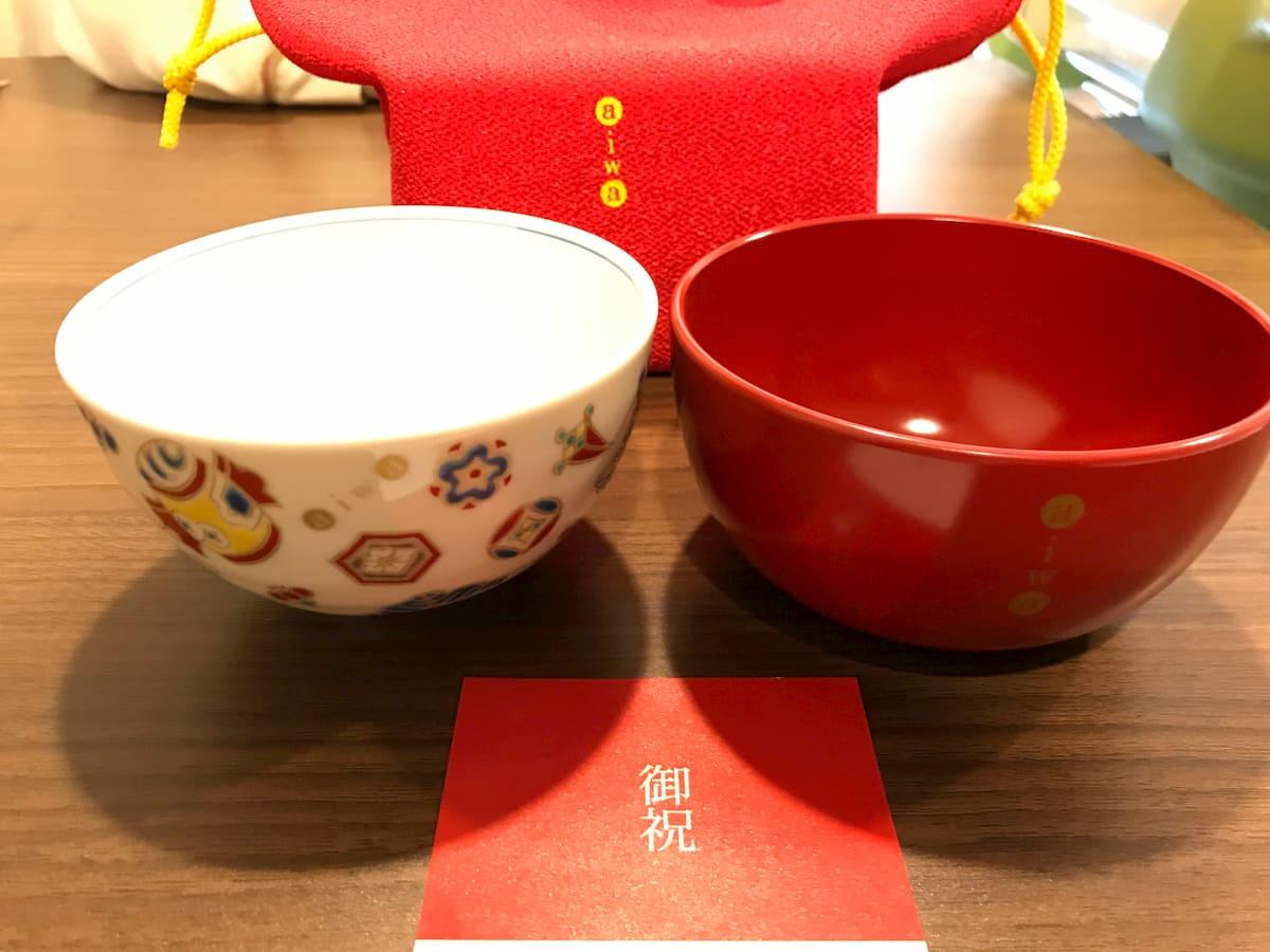 漆器汁椀と九谷焼色絵飯椀