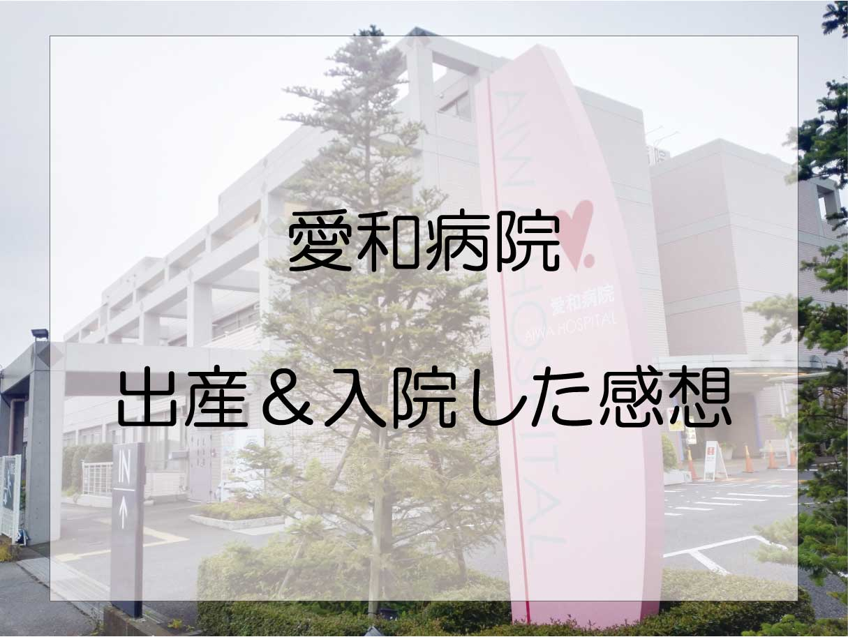埼玉県川越市「愛和病院」で出産・産後入院した感想レビュー