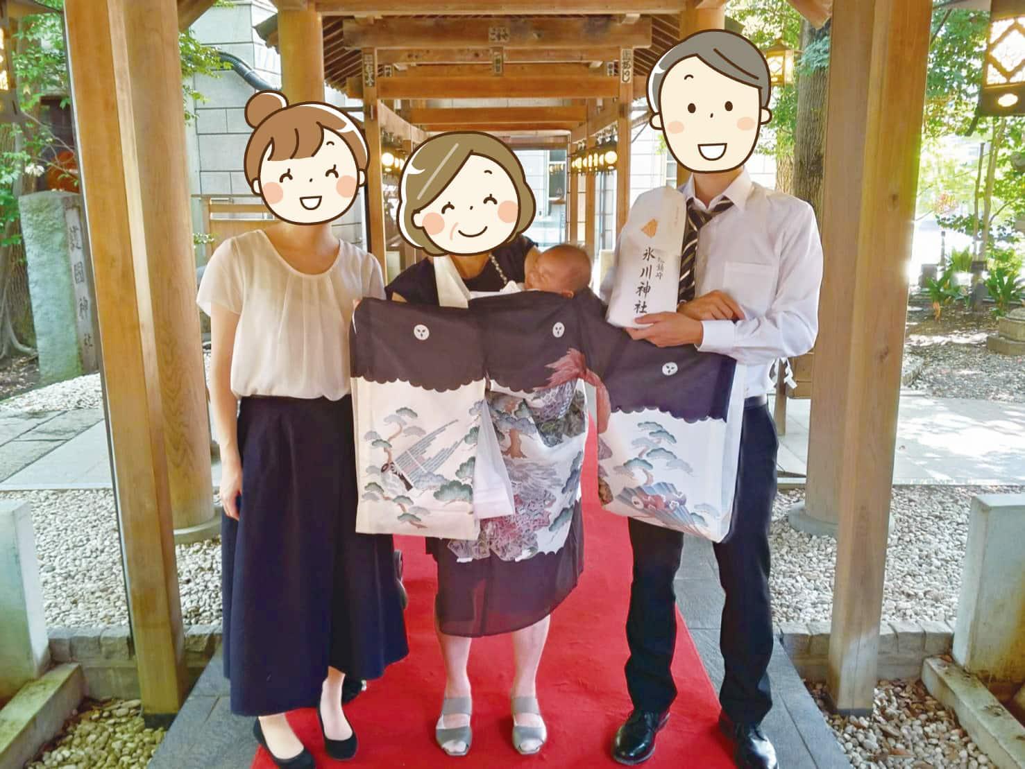お宮参りの参列者の服装