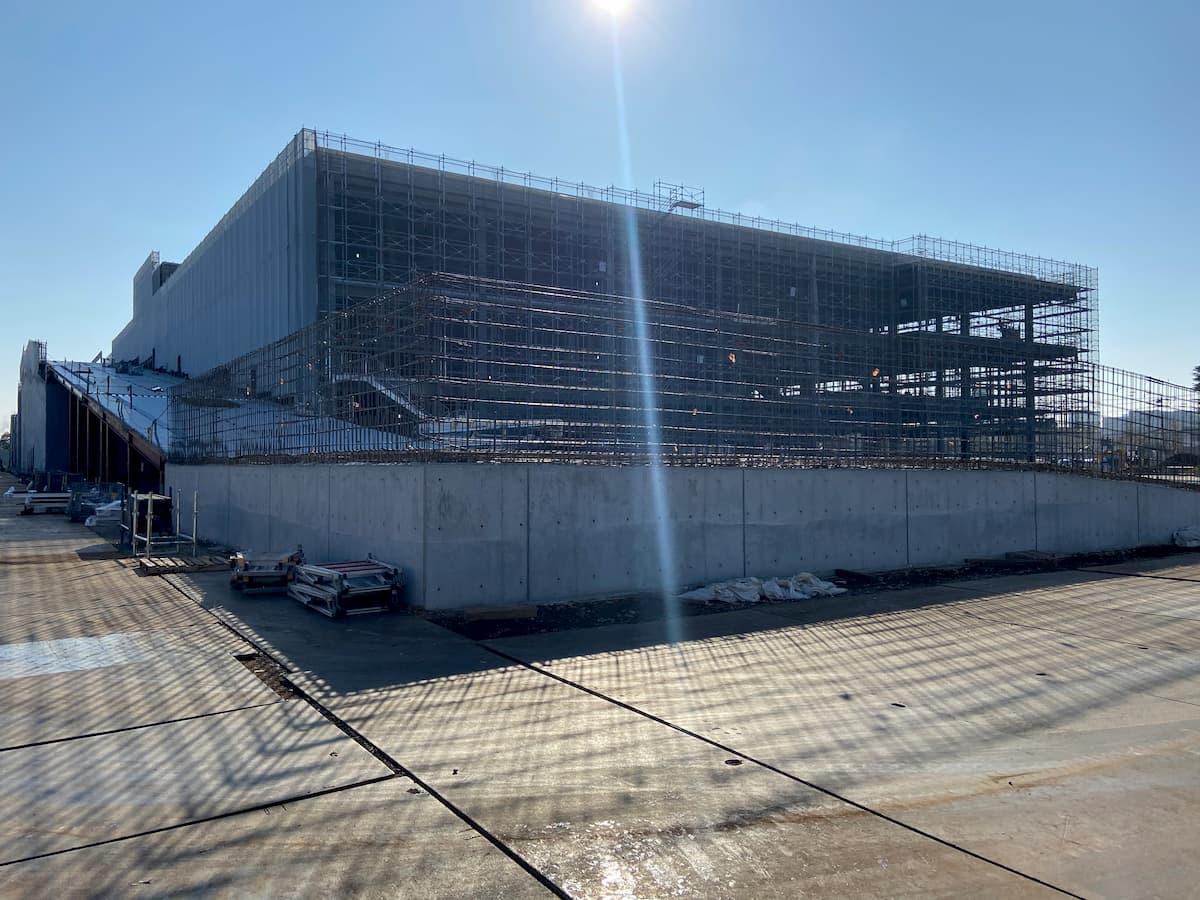 イオンタウンふじみ野の2020年1月の工事現場