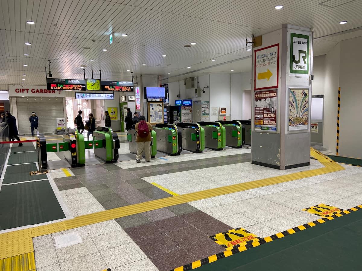 新しい川越駅の改札