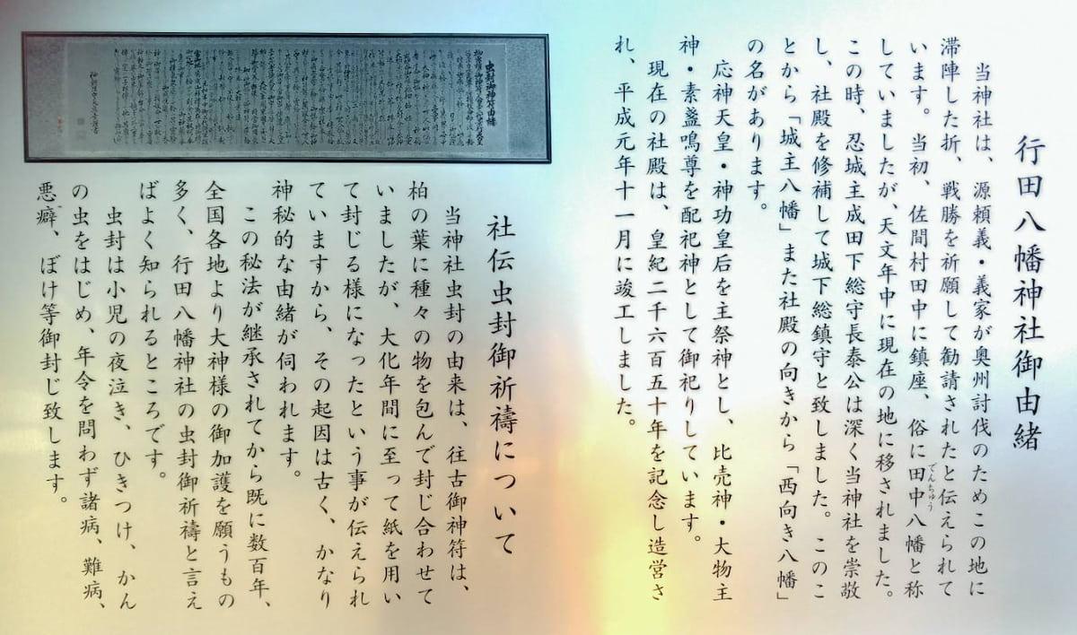 行田八幡神社の由緒