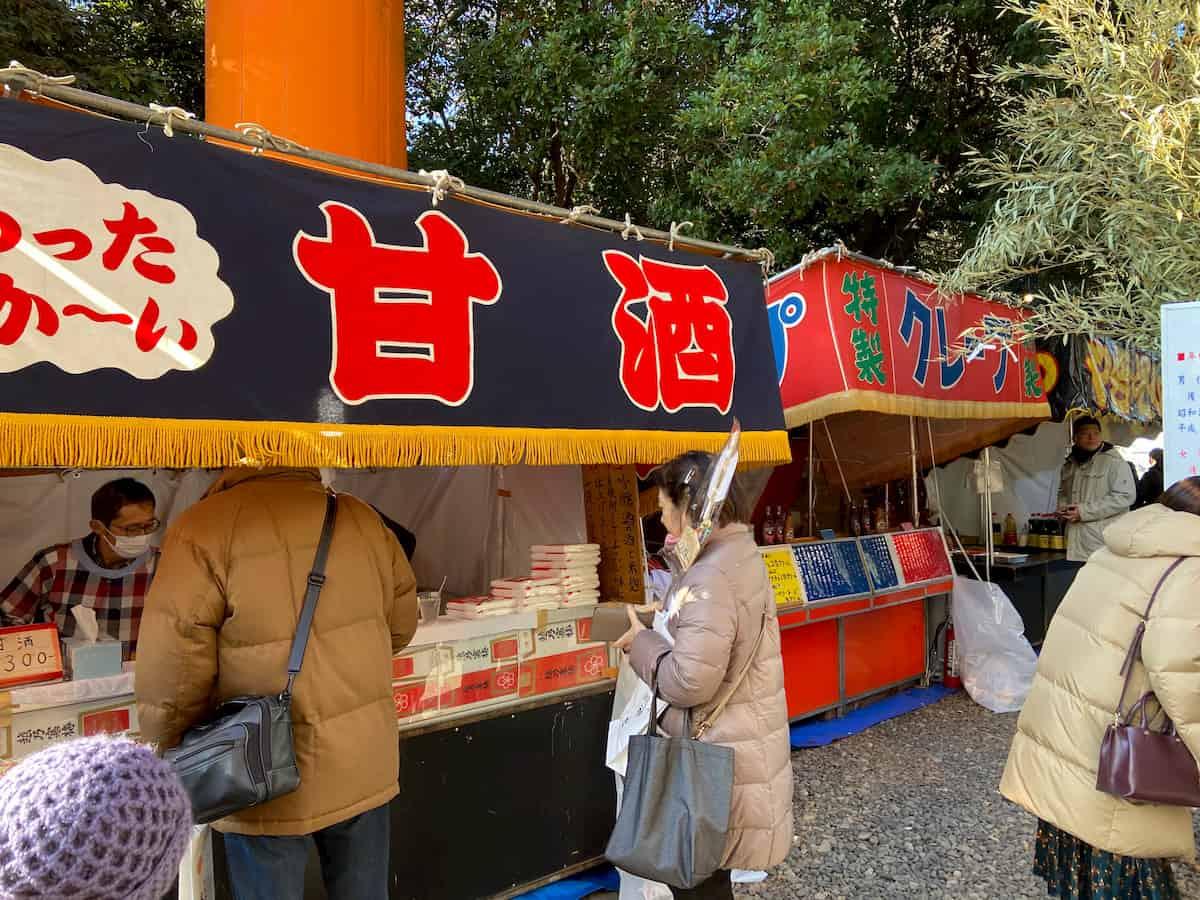 川越氷川神社の元旦の屋台