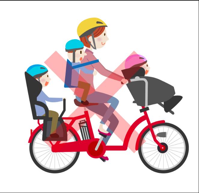 自転車の4人乗り