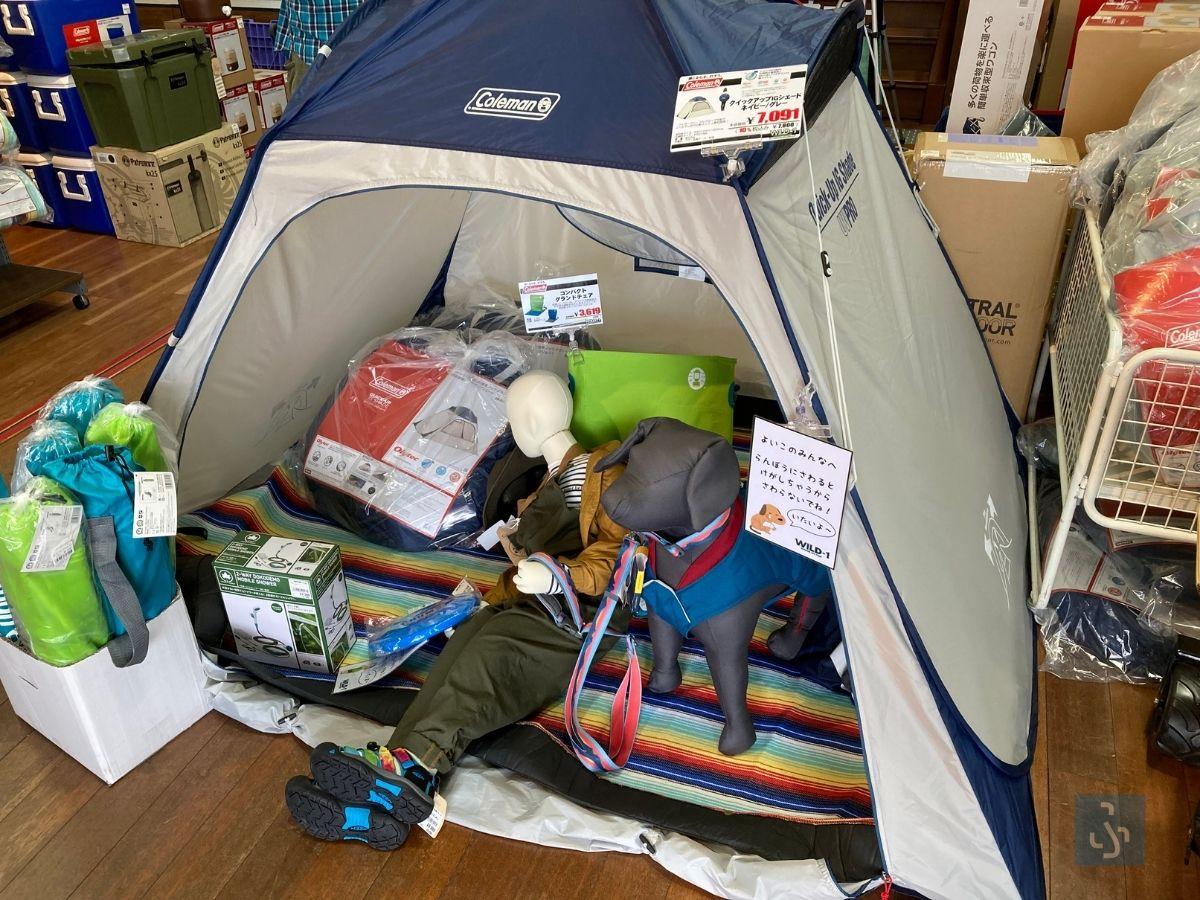 ポップアップ式テント