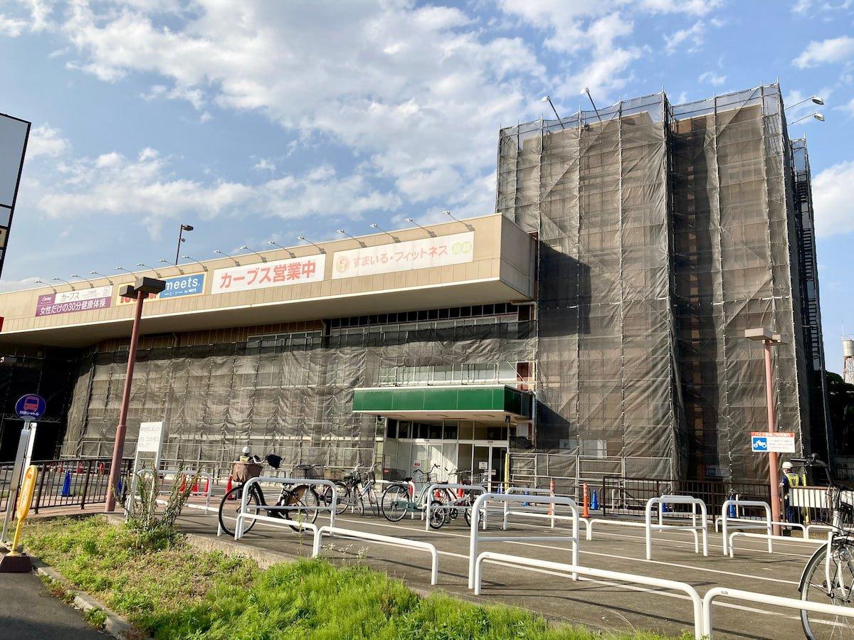 工事中のヤオコー川越藤間店
